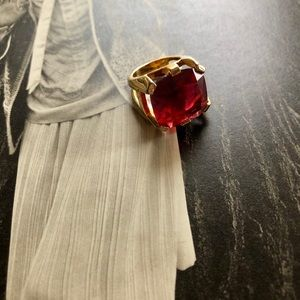 Beautiful red cocktail ring😘❤️😊